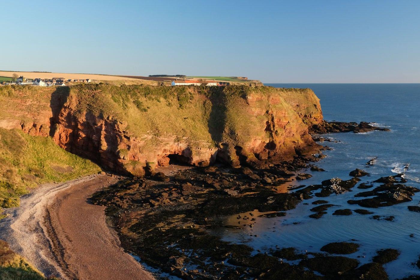 seaton cliffs arbroath